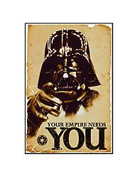 Art.com STAR WARS - Empire Needs You, Wood Mount, - the perfect wall decor for any Star Wars fan!
