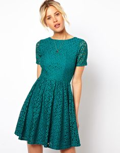 ASOS lace skater dress
