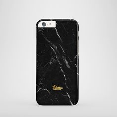 """Anthracite""  / feature with Superb Black color marble stone printed iphone cover. #black #marble #case"