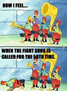 In our band camp we had a fight song count and in the two weeks of band camp and one week of school we played the fight song over 100 times before losing count. Band Nerd, Band Puns, Band Jokes, Marching Band Quotes, Marching Band Problems, Flute Problems, Music Jokes, Music Humor, Funny Music