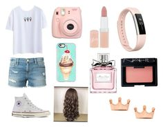 """""""Casual👌"""" by isabellerivette on Polyvore featuring Frame Denim, Converse, Fujifilm, Casetify, Rimmel, Christian Dior, Fitbit and NARS Cosmetics"""