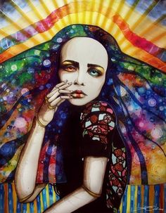 girl watercolor painting svenja