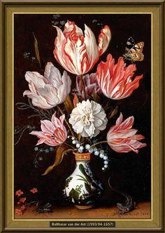 Balthasar van der Ast - Bloemen in een porseleinen vaas (1625) [41cmx28cm]