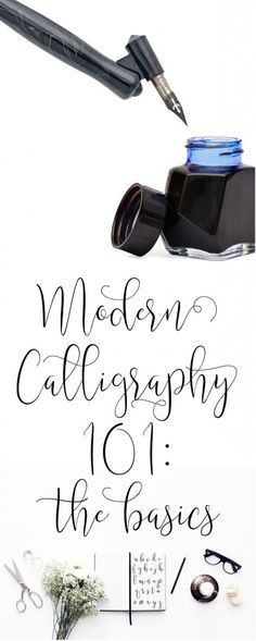 Calligraphy 101 Modern Calligraphy The Basic Supplies you'll need to get started with practicing + free practice sheets! Calligraphy Practice, How To Write Calligraphy, Calligraphy Handwriting, Calligraphy Letters, Typography Letters, Penmanship, Modern Calligraphy Alphabet, Modern Caligraphy, Islamic Calligraphy