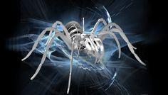 Tarantula, spider, 3d model, puzzle, sheetmetal, woodcraft, metalcraftdesign