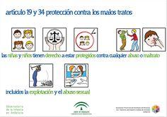 """https://flic.kr/p/feqCcv   Artículo 19 y 34. Protección contra los malos tratos   Las niñas y niños tienen derecho a estar protegidos contra cualquier abuso o maltrato incluidos la explotación y el abuso sexual  Fuente: Convención sobre los """"Derechos del Niño"""": versión para niños y niñas de 9 a 11 años / Save the Children"""