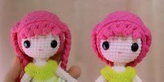 Esta muñeca amigurumies de Amy Chou y yo, con su permiso, he realizado la traducción del patrón al