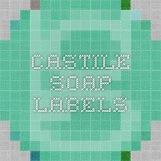 castile soap labels - not editable