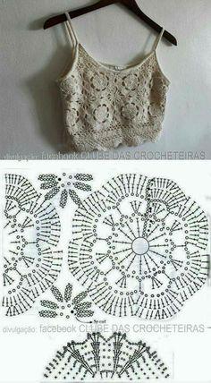 Fabulous Crochet a Little Black Crochet Dress Ideas. Georgeous Crochet a Little Black Crochet Dress Ideas. Crochet Diagram, Filet Crochet, Crochet Motif, Irish Crochet, Crochet Lace, Crochet Flowers, Bikini Crochet, Crochet Crop Top, Crochet Dresses
