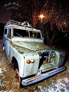 The Land Rover.