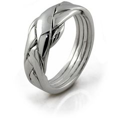 4 band puzzle ring