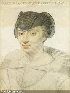 Marie de la Grande,Comtesse de Saint- Aigan(Aignan)c.1620 D.Dumoustier Reinette: Artists of the Dumonstier family
