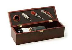 Wine Stoppers - Cherry 4 Piece Wine Accessory Gift Box by True *** Click image to review more details.