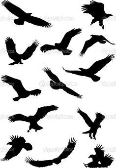 Eagle Silhouette Tattoo