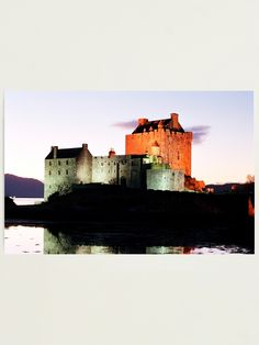 """Eilean Donan Castle at night , the Highlands , Scotland"" Photographic Print by goldyart Abandoned Castles, Abandoned Mansions, Abandoned Houses, Abandoned Places, Scottish Highlands, Highlands Scotland, Eilean Donan, Abandoned Amusement Parks, Scottish Castles"
