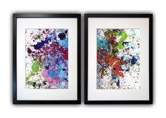 ABSTRACT ART 2 x A4 KOMPOSITION 03 Original Unikat von Abstract Art & Graphic Design auf DaWanda.com