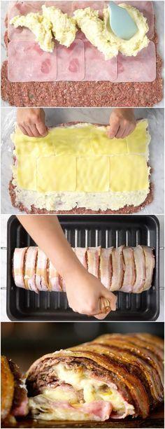Bolo de Carne com Purê de Batatas,impossível decidir qual a melhor parte desse bolo de carne #bolodecarne #carnebovina