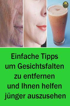 Einfache Tipps um Gesichtsfalten zu entfernen und Ihnen helfen jünger auszusehen Wir empfehlen Ihnen deshalb dieses Video sich bis zum Ende anzusehen. Denn in diesem Video zeigen wir Ihnen wie man ein Anti-Falten-Mittel ganz natürlich macht. In kurzer Zeit wird es Ihre Falten vollständig beseitigen. #NatürlicheFaltenentfernung #faltenentfernen #faltenreduzieren Nutrition, Under Eye Wrinkles, Look Younger, Middle