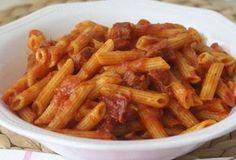 Pâtes à la sauce au chorizo WW, recette d'un bon plat léger de pâtes à la sauce tomate et au chorizo, parfait et simple à faire pour un repas léger du soir.