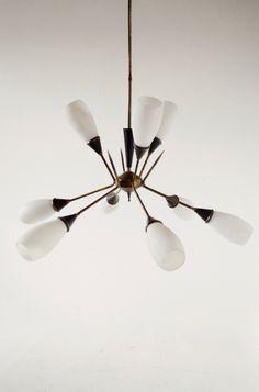 1950s Italian Stilnovo style chandelier | OSI MODERN