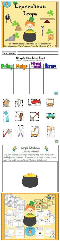 Teach primary students all about simple machines with a fun St. Patrick's Day twist!