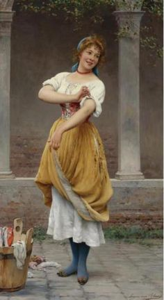 Eugene de Blaas - The Happy Laundress