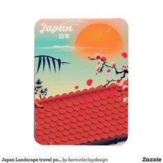 Japan Landscape travel poster Magnet