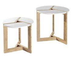 Set de 2 mesas auxiliares Varm