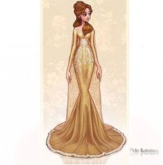Princesas Disney no tapete vermelho - Just Lia Disney Belle, Disney Princess Fashion, Film Disney, Disney Princess Drawings, Disney Princess Art, Disney Fan Art, Cute Disney, Disney Girls, Disney Drawings