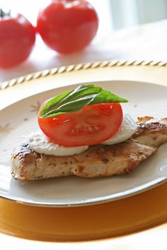 Chicken Caprese - Serves 4  (Delicious and Healthy Main Dish for Spring )
