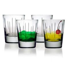 Ribbons Double Old Fashioned Glasses (Set of 4)