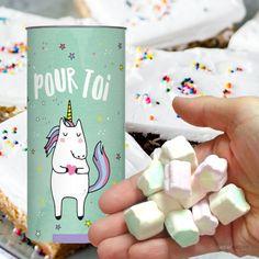 Boîte de guimauves à offrir  Personnalisez-la avec tendresse  40 grammes de friandises  Offrez de la jolie licorne à vos amies.  #licorne #licornes #unicorn #unciorns #unicorno #unicornio #teamunicorn #unicornpower