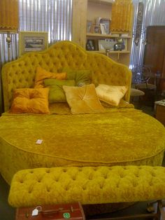 70's Anyone?  I actually had a bed just like this only it was red velvet!! Loved it but I always kept falling out!