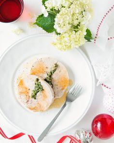 Roasted Turkey Breast Stuffed with Ricotta, Spinach & Pancetta