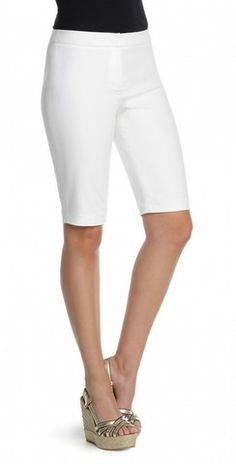 Nic + Zoe Perfect Short just got a warm-weather update with this slim polished short - it's a Spring staple! #spring2014 #white #summershorts