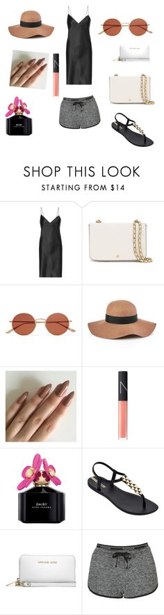 """A comfy outfit"" by taylortibbs ❤ liked on Polyvore featuring Yves Saint Laurent, Tory Burch, Oliver Peoples, Reiss, NARS Cosmetics, Marc Jacobs, IPANEMA, MICHAEL Michael Kors and Topshop"