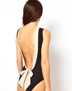 backless one piece swim suit