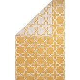 Found it at Wayfair - Avalon Cotton Flat Weave Yellow/White Area Rug