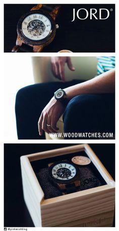 54d4962b93 JORD Men s Wood Watch Dover Zebrawood   Dark Sandalwood - Mechanical