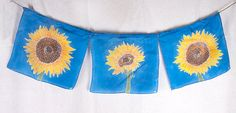 Sunflowers, the happ