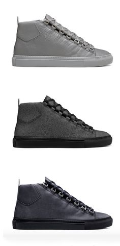 Balenciaga 2015 Fall/Winter Arena The popular high-top returns for Fall/Winter 2015.