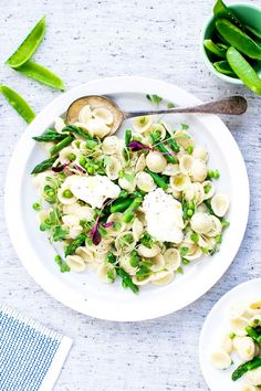 Orecchiette With Peas, Asparagus, and Mascarpone