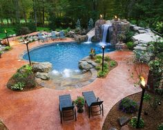 Swimming Pool Waterfall Designs cool backyard swimming pools of outdoor swimming pool by glass elements enhancing cool backyard backyard Breathtaking Pool Waterfall Design Ideas