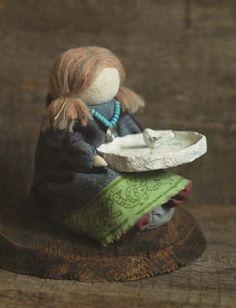 """Кукла-образ """"...гадание по птичей лапке"""". - кукла,кукла-образ,кукла ручной работы"""