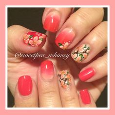 Nailpolis Museum of Nail Art | Red/Pink Ombré