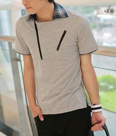 Stylish Zippered T-shirt