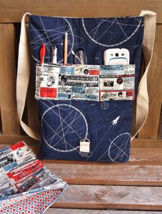Riley Blake Fabrics Rocket Age Laptop Bag by Fabric Mutt