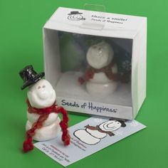 Small Snowman Seed : Seeds of Happiness, Share a Smile!