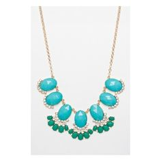 Kapelle Necklace in Aqua Forest ($28) ❤ liked on Polyvore