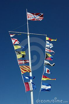 nautical flags. But with pirate flag on top